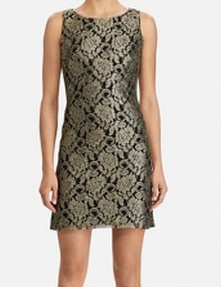 f28cabf2fe17 American Living NEW Gold Black Women's Size 10 Lace Sheath Dress $89- #196 #