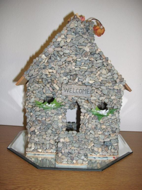 Make a rock house all by yourself. my sisters and i made this one!