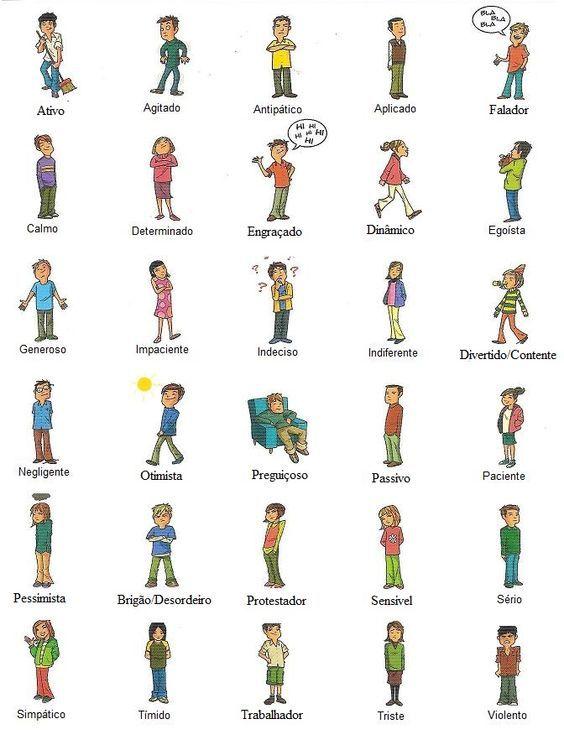 Como E O Teu Melhor Amigo Adjetivos Ficha De Vocabulario Para