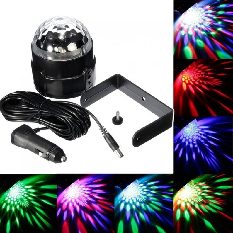 939 GBP - 12V-24V 3W Sound Activated Led Colorful Magic Ball Dj