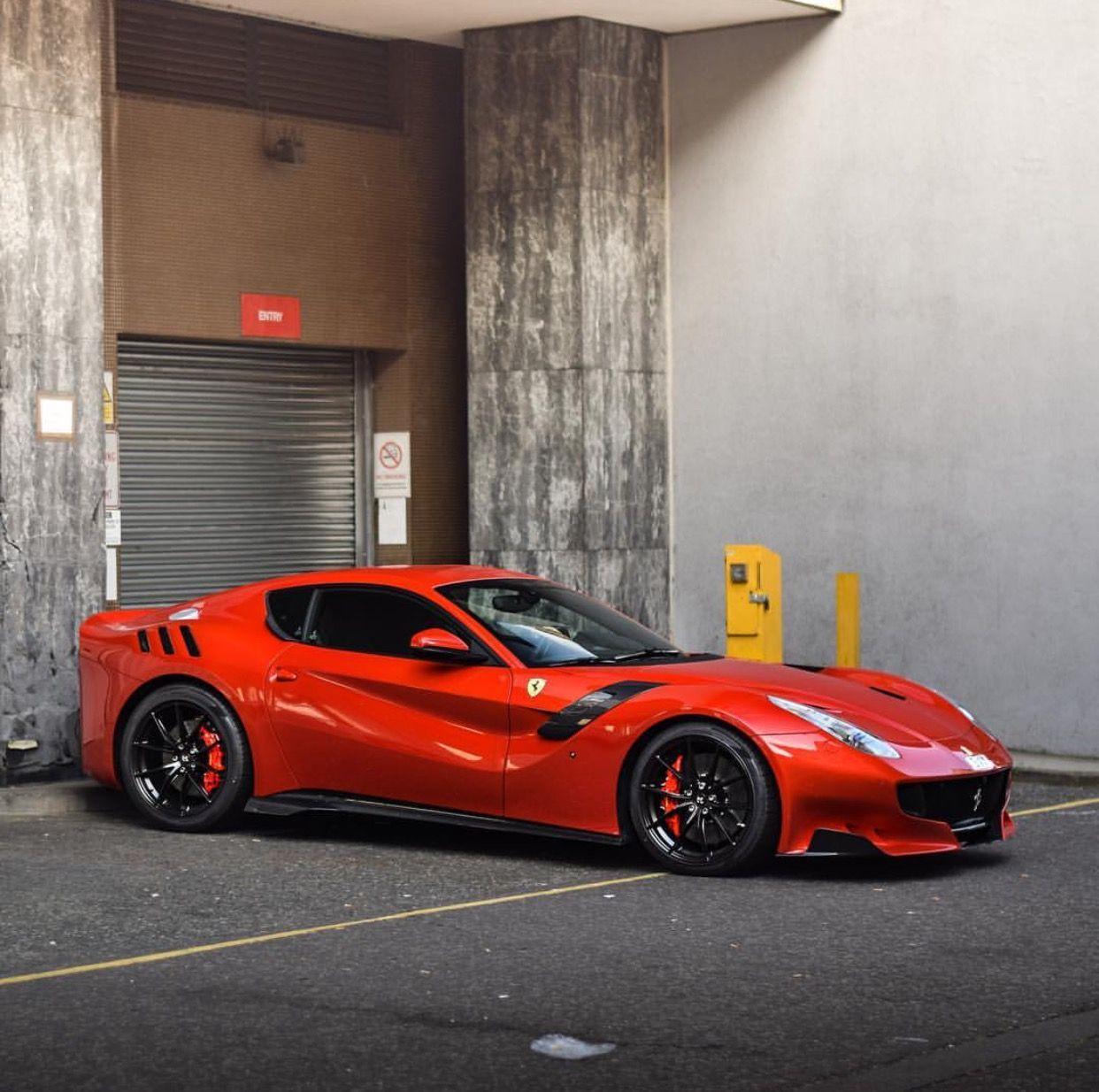 Ferrari F12 TDF Painted In Rosso Maranello Photo Taken By