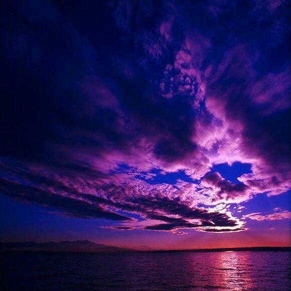 Purple Fond Ecran Paysage Papier Peint Coucher De Soleil Ciel Pourpre