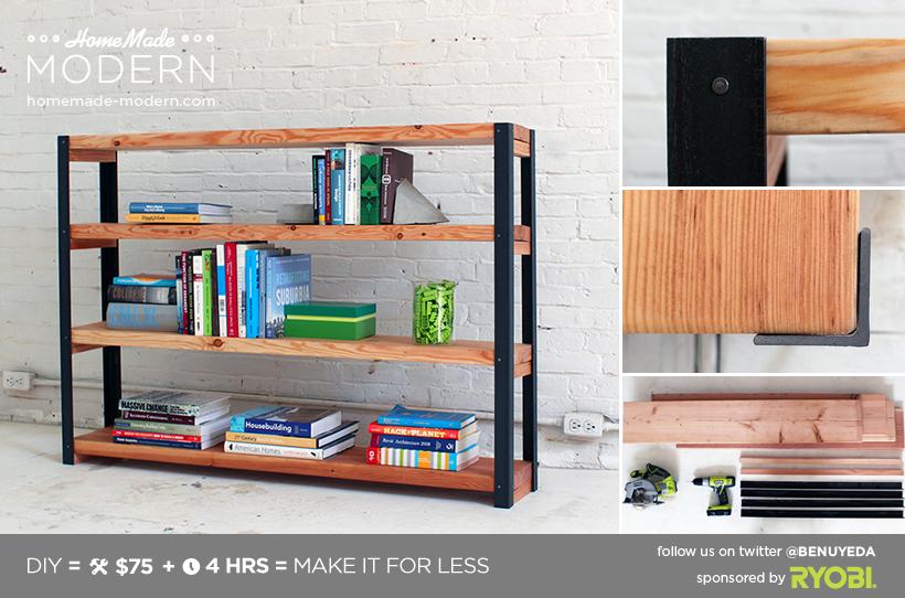 Modern Bookshelf Plans ep36 ironbound bookcase (homemade-modern) | homemade modern