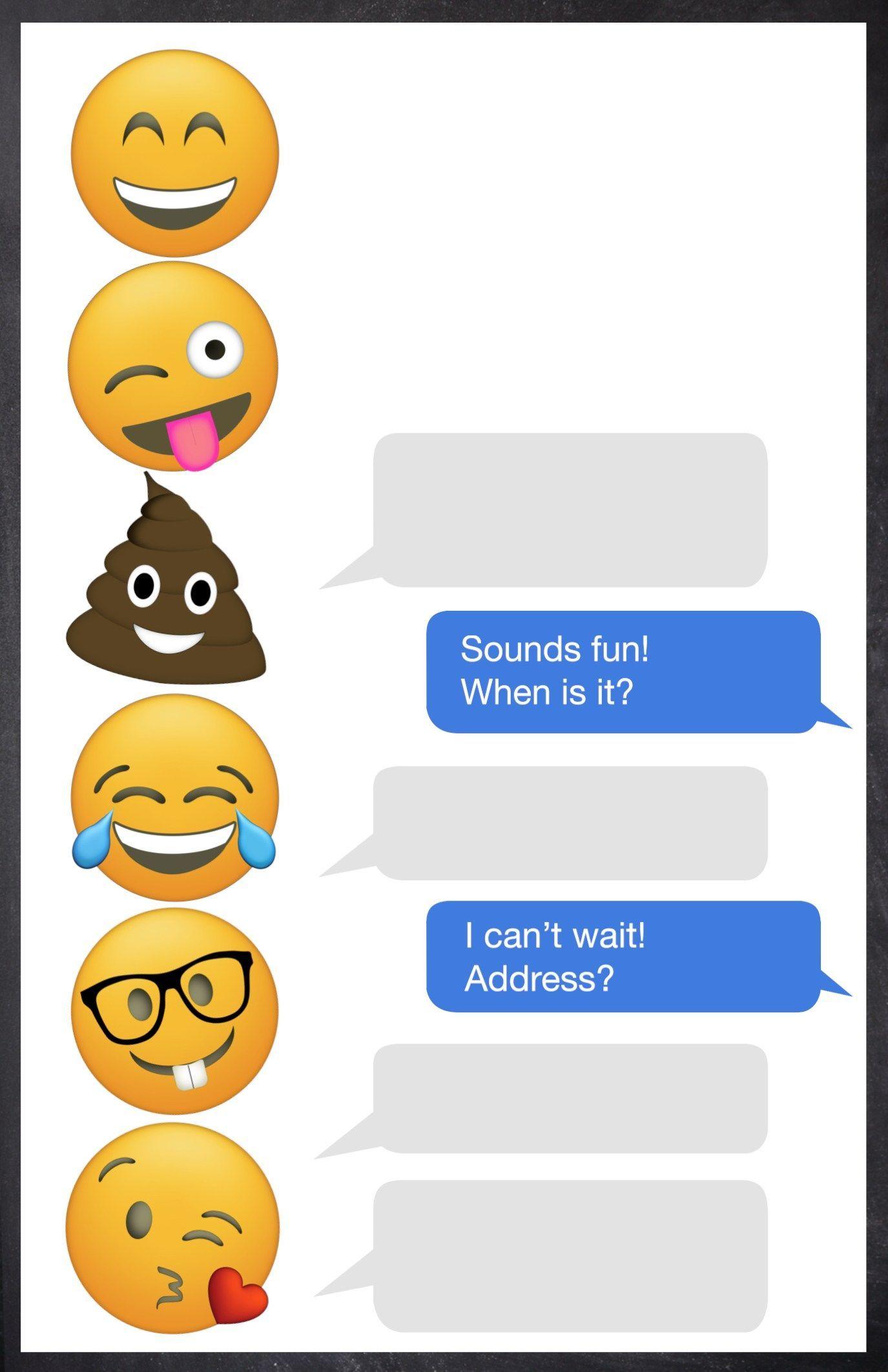 emoji birthday party invitation template free