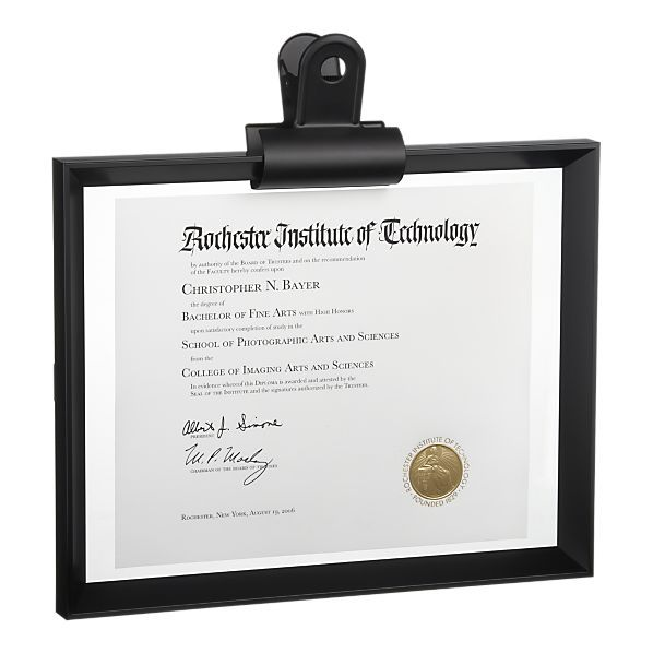 You worked hard for your diploma!  Keep it safe