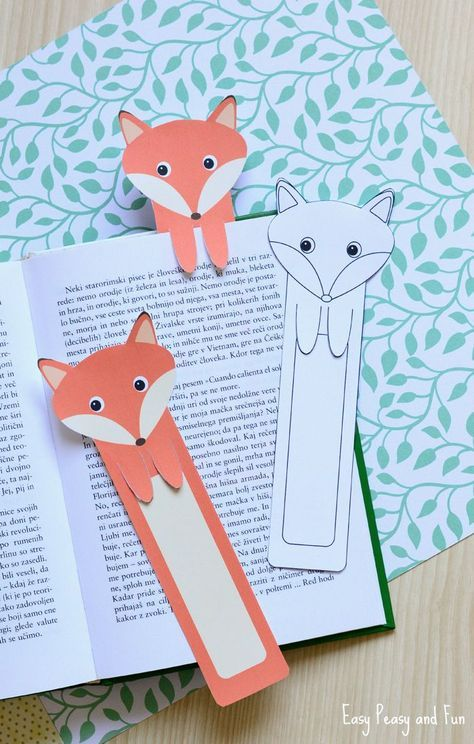 Printable Fox Bookmarks - DIY Bookmarks - Easy Peasy and Fun mehr zum Selbermachen auf Interessante-dinge.de #cutefox