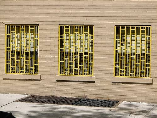 Painted Security Bars Window Bars Modern Windows Front