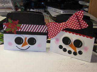 Mr and Mrs Frosty envelope liner cards