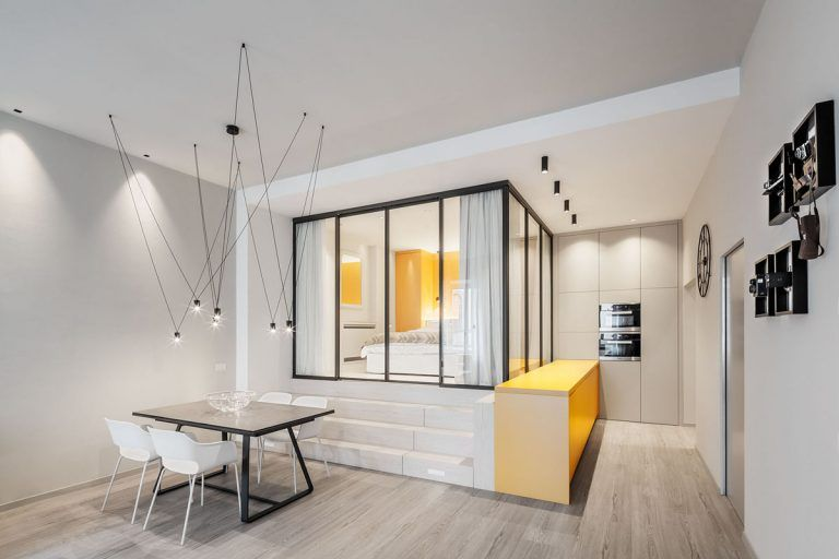 Elegant Small Apartment with Glass Bedroom - Trento, Italy ...