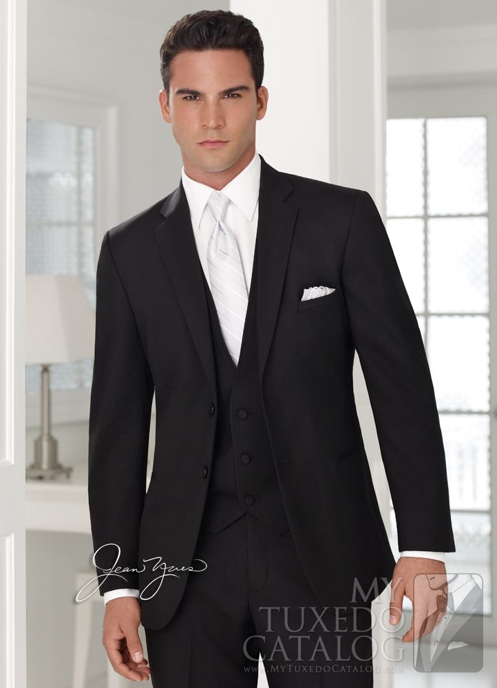 Black Ceremonia Suit Grooms And Groomsmen Suit