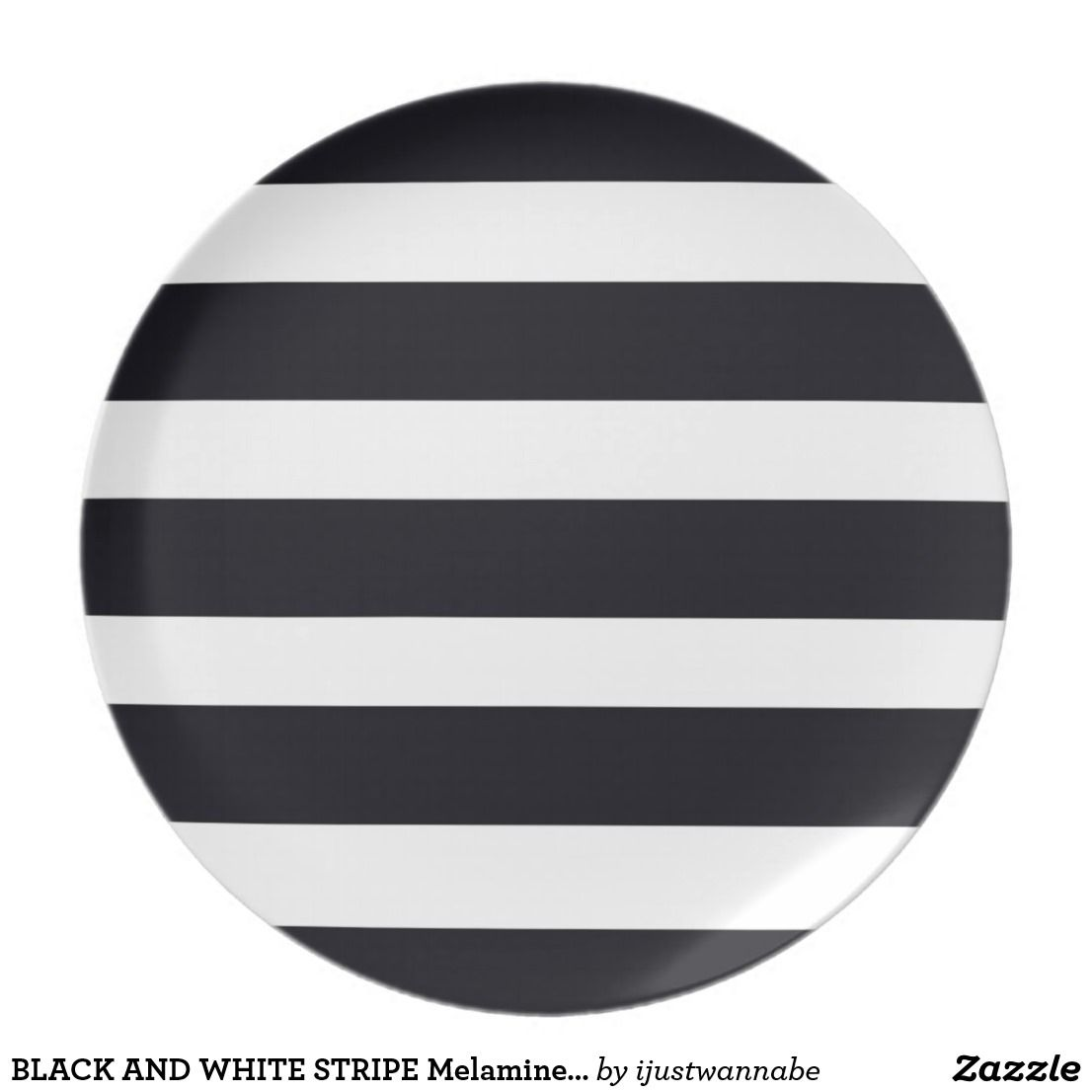 BLACK AND WHITE STRIPE Melamine Dinner Plates. Beautiful non-breakable Melamine Dinner Plates with Classic Black and White Stripes.  sc 1 st  Pinterest & BLACK AND WHITE STRIPE Melamine Dinner Plates. Beautiful non ...