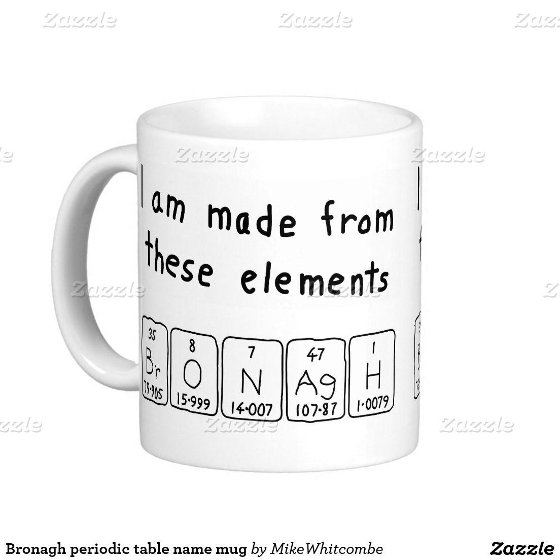Bronagh periodic table name mug pinterest periodic table bronagh periodic table name mug urtaz Image collections