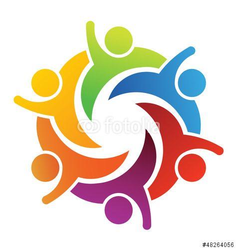 Vector: Teamwork Six People | Logo in Fotolia | Pinterest ...