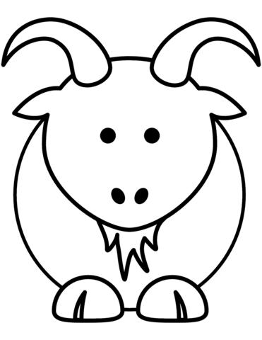 Ausmalbild Hausziege Auf Der Wiese Kategorien Ziegen Kostenlose