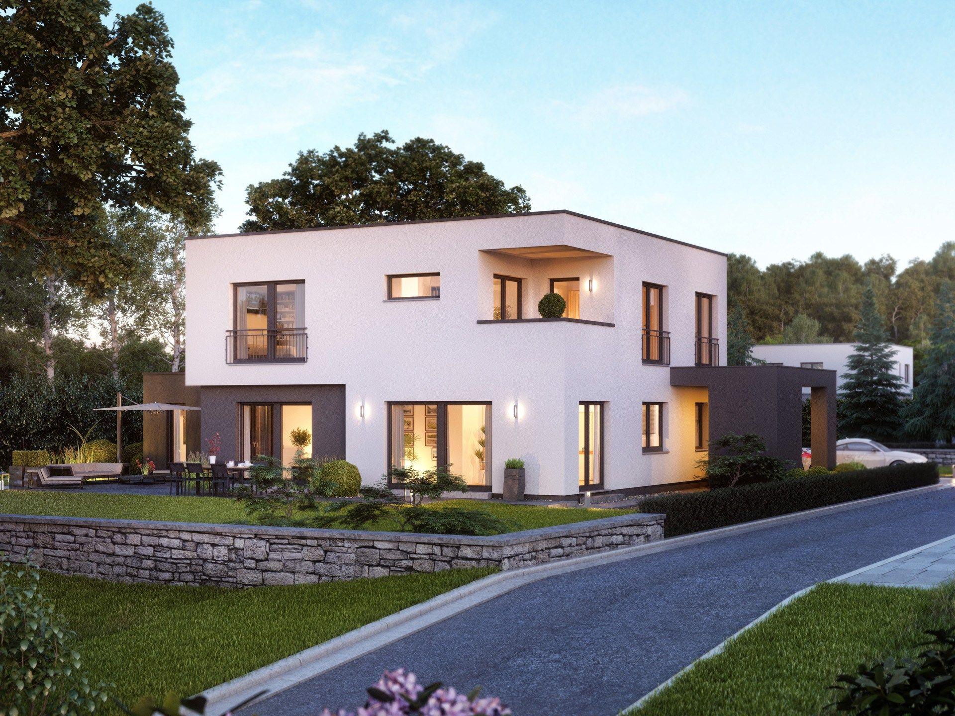 Einfamilienhaus Cube 10 in 2019   Bauhaus, Cubus, Kubushaus   Massa ...