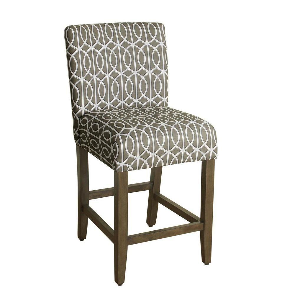 Remarkable Homepop Lexie 24 In Natural Blue Bar Stool Blue Jacobean Ncnpc Chair Design For Home Ncnpcorg