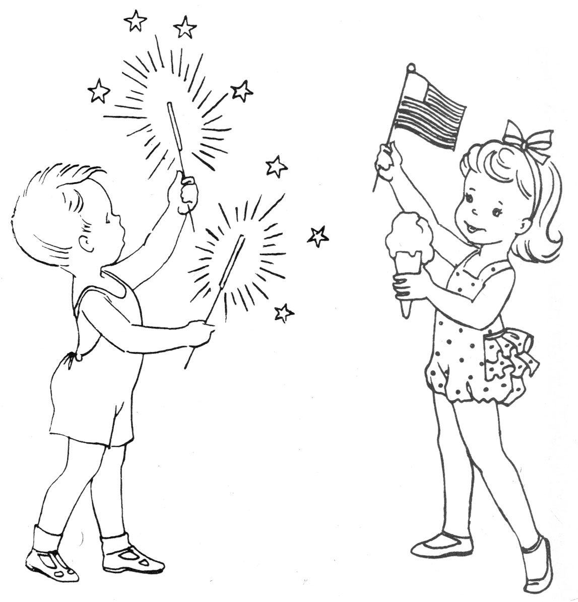 Vintage Patterns Coloring Pages. Vintage of July Pattern  D Perfectly Patriotic for an apron hand towels or embroidery hoop art 4th Embroidery Transfers Needlework