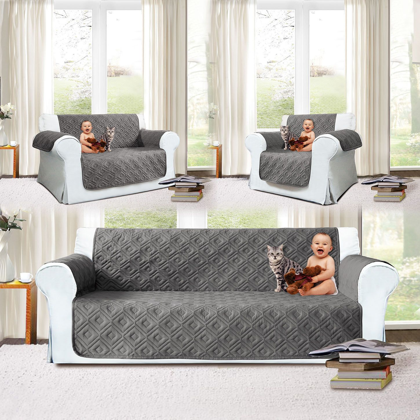 Quilted Furniture Protector Sofa Cover sofa_covers_diy