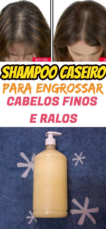 Shampoo Para Engrossar E Crescer Cabelos Finos E Ralos 3 X Mais