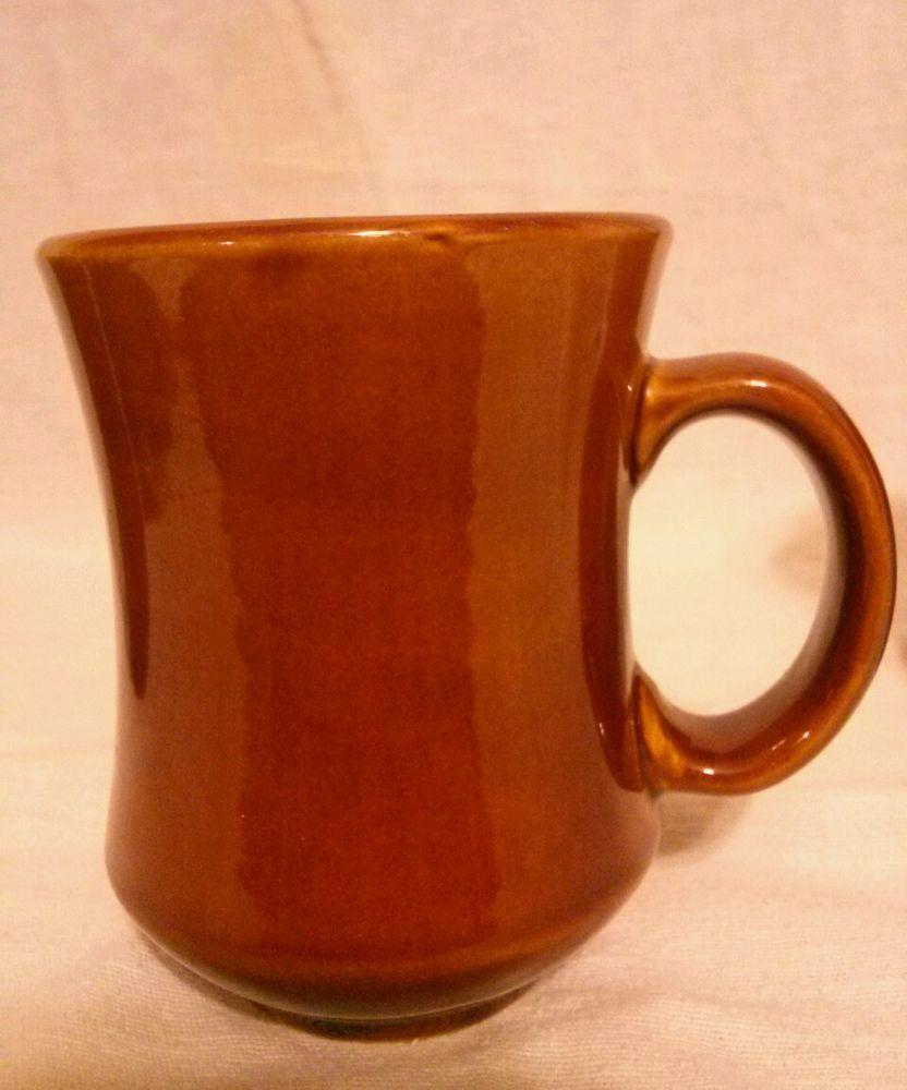 Lot Of 3 Vintage Ventura China Restaurant Ware Brown Coffee Mugs