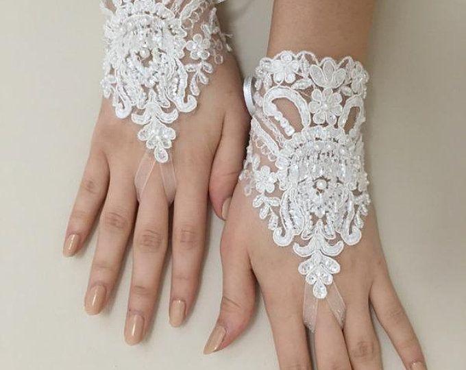 3fc3da4781e Elfenbein hochzeitshandschuhe Hochzeit Braut Handschuhe Französisch Spitze  hochzeitshandschuhe