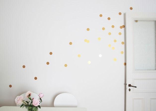Wandtattoo Wandtattoo Wandsticker Dots Punkte Gold