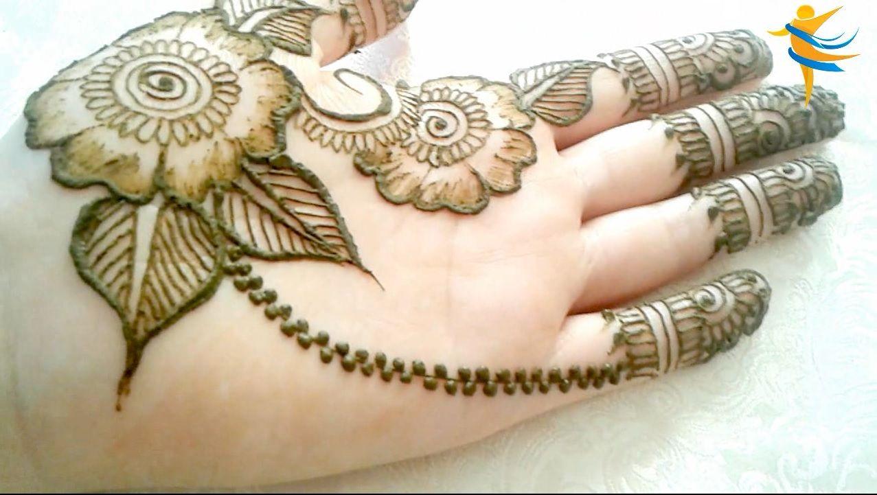 Simple Latest Stylish Arabic Henna Mehndi Design For Hand The