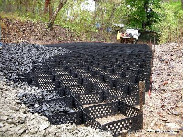 Soil Stabilization Mats for slopes, ditches, and roads | Landscaping