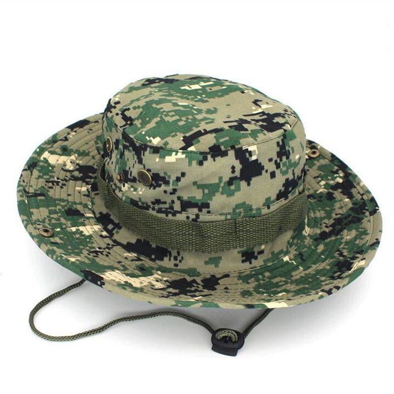 bf9cf758ec781c Bucket Hat Wide Brim Fishing Hunting camping hiking Boonie Cap Military Camo  hat#Brim#Fishing#Hunting