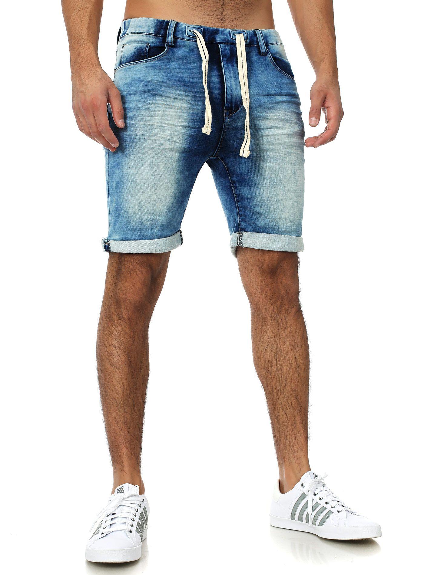 Sublevel Denim Jogger Shorts blue | MENS STYLE | Pinterest