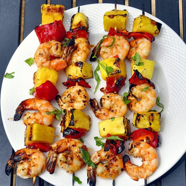 Chili Lime Shrimp Kabobs make a terrific quick workday grilled dinner, served with Chinese noodles or steamed rice.