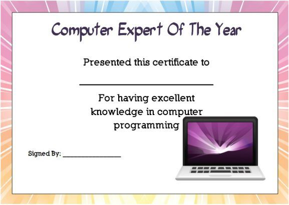 Computer Expert student … | end of the year awards for elementary ...