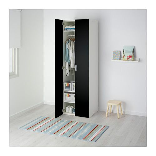 Stuva Armoire Penderie Blanc Noir Ikea Chambre Pinterest