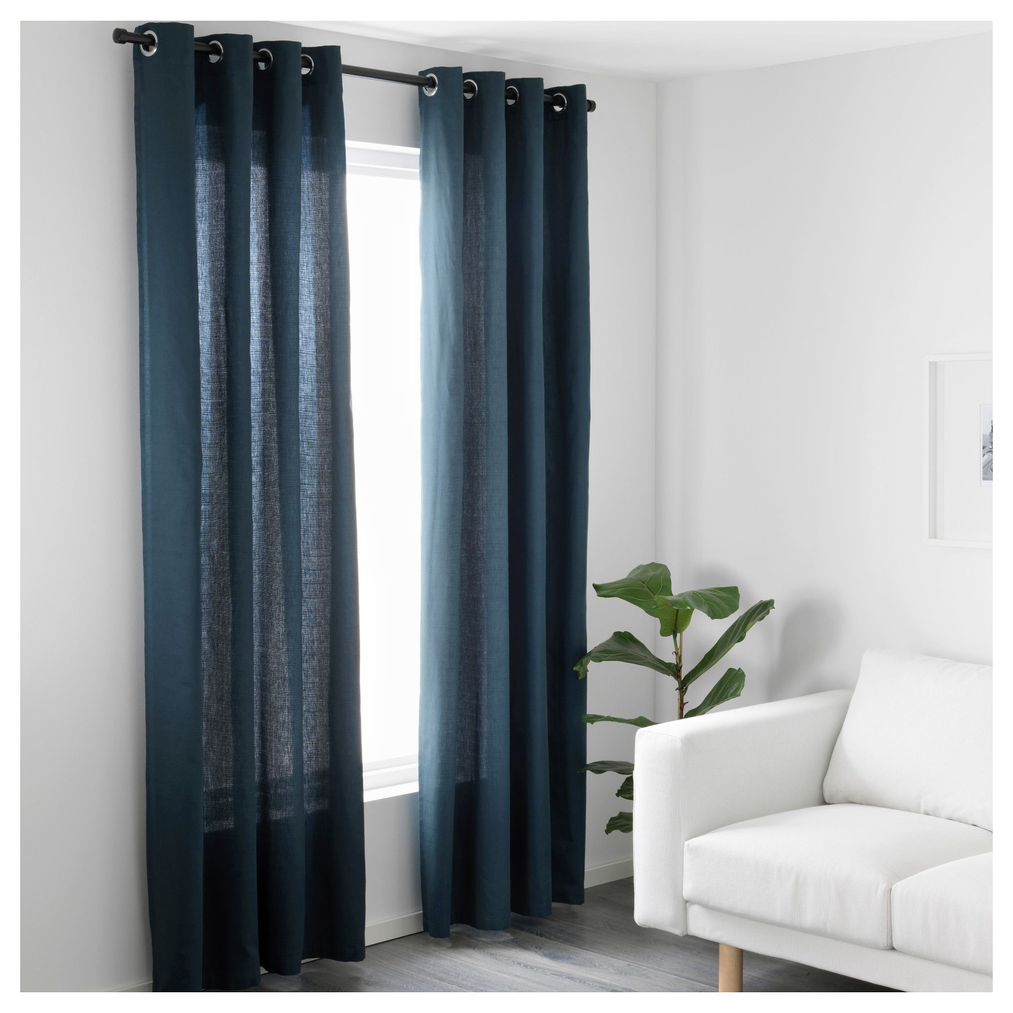 furniture and home furnishings  blue curtains living room
