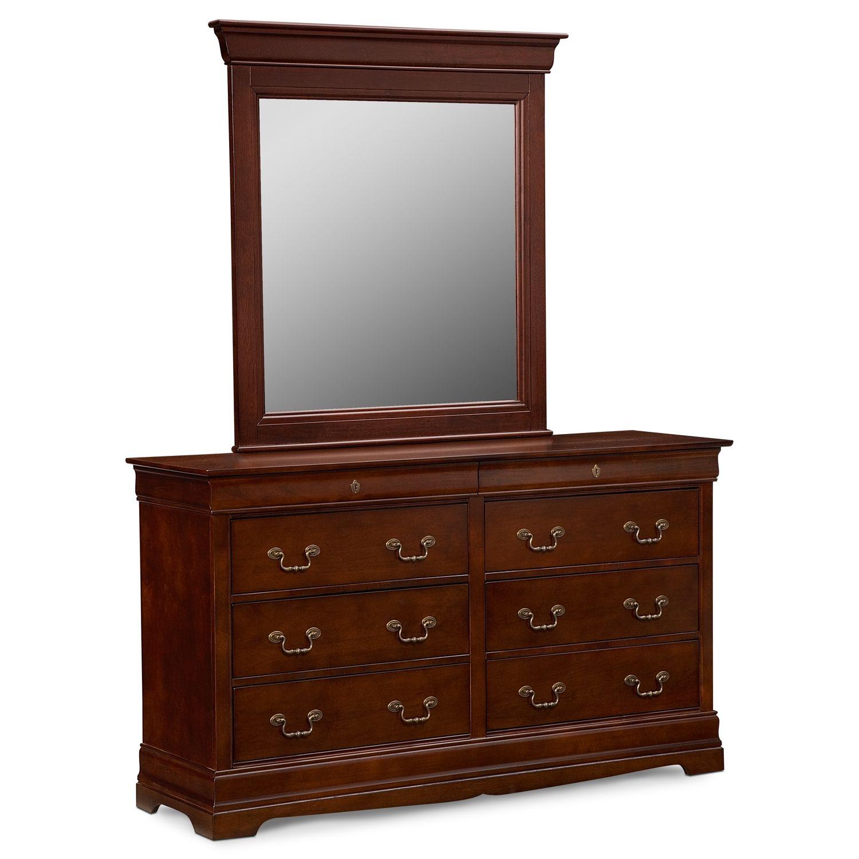 Neo Clic Cherry Dresser Mirror Value City Furniture