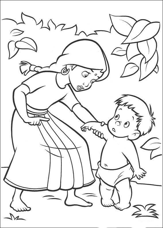 das dschungelbuch 43 ausmalbilder für kinder. malvorlagen