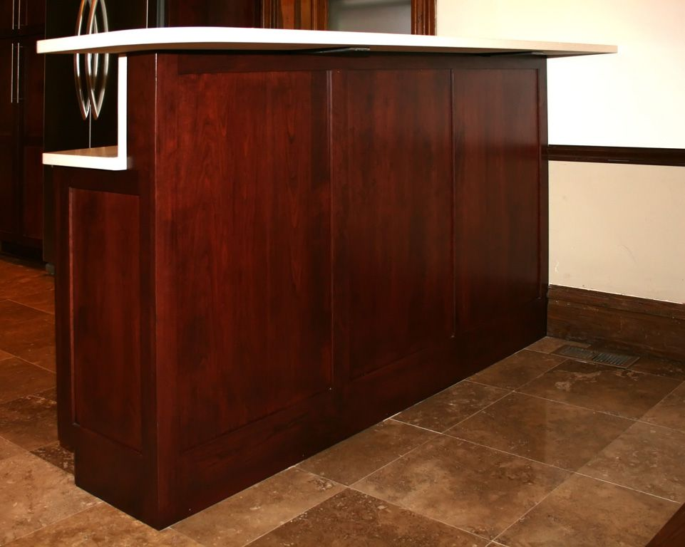 Attrayant Base Cabinet Bar | St Louis Kitchen Cabinets   Bar Height Raised Panel  Cabinet Back