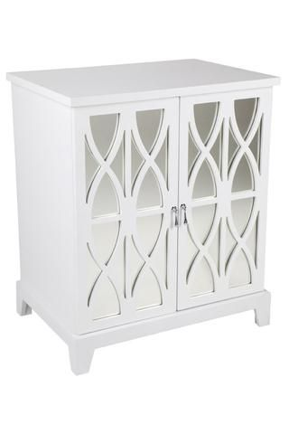Alistair Mirrored Bedside Table Cl White 30993 Shine Mirrors Australia 1