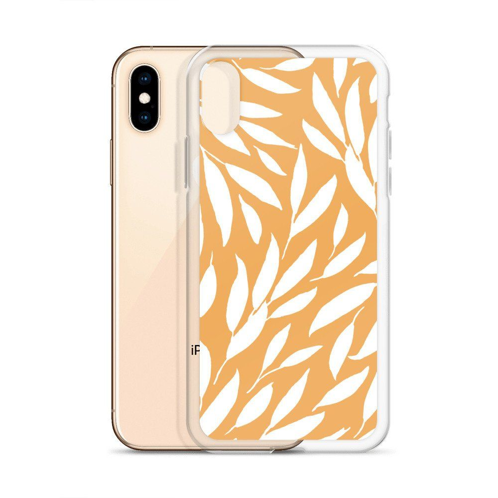 new arrival 74bfd 29f0a Mustard Yellow Leaf Pattern Bohemian iPhone Cases, Floral iPhone ...