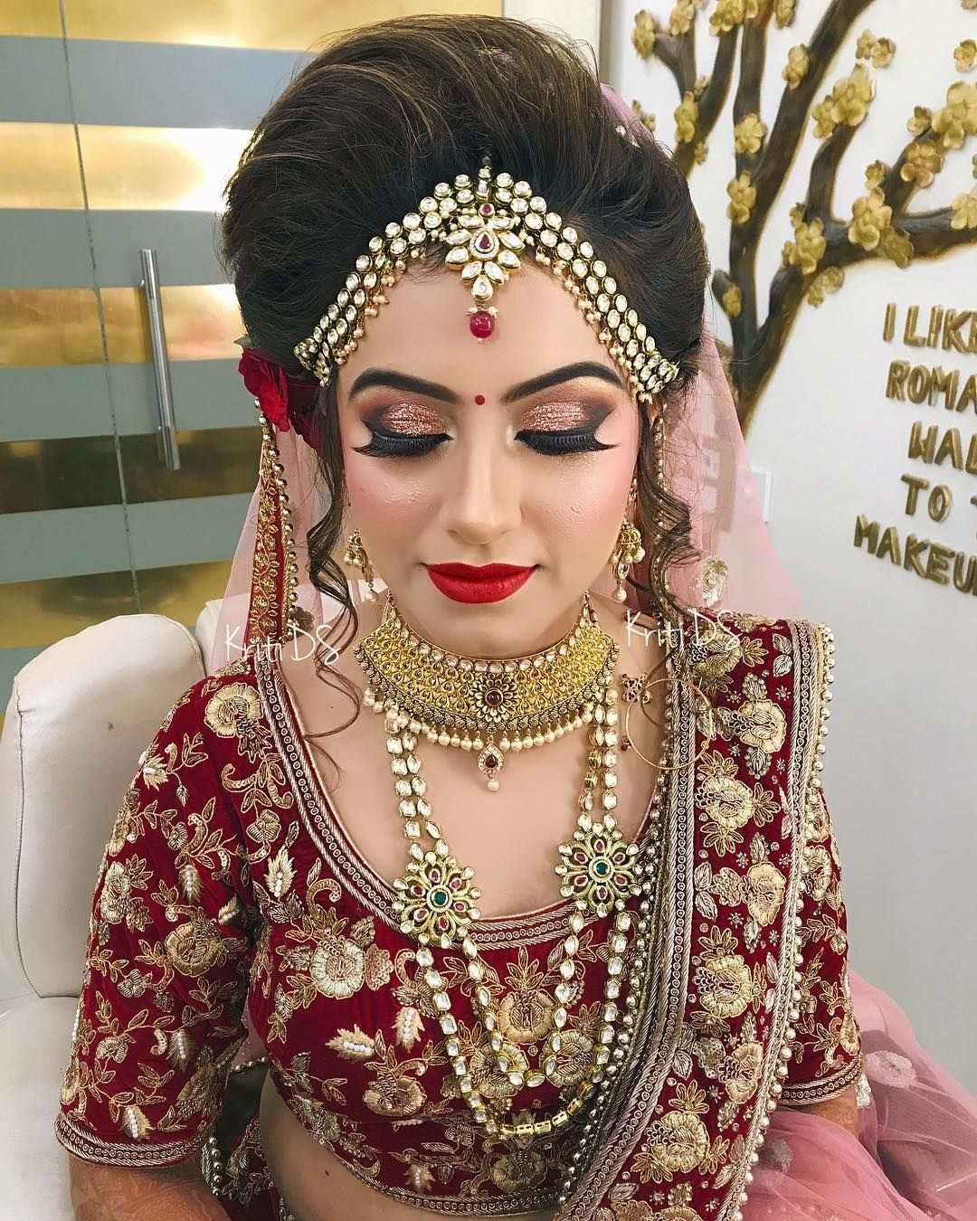 Wedding Hairstyles Asian: Pin By Diksha Sharma On Brides In 2019