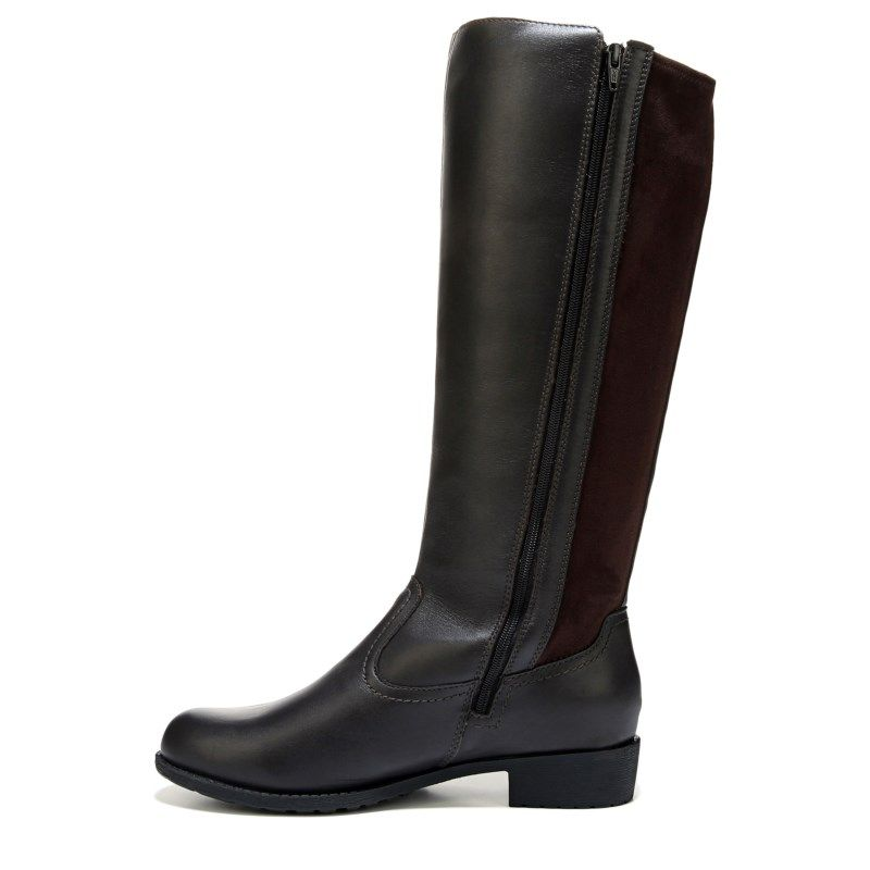 Propet Womens Charlotte NarrowMediumWide Wide Calf Riding Boots Bronco Brown