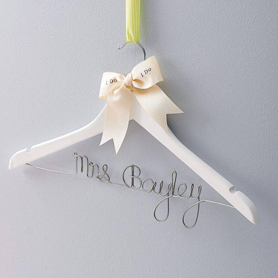 Personalised Wedding Dress Hanger