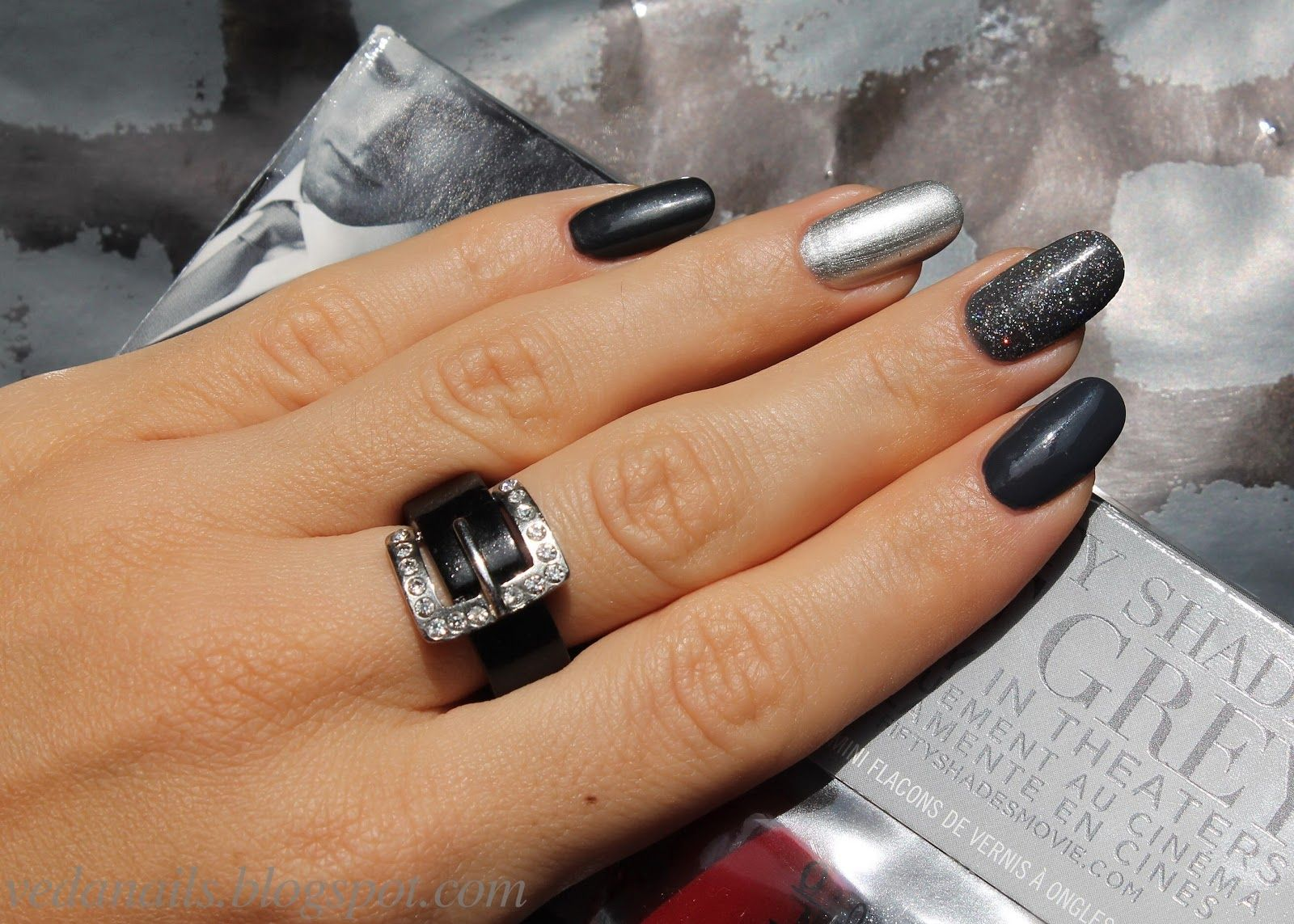 My life in color: Маникюр на тему 50 Shades of Grey | My nail polish ...