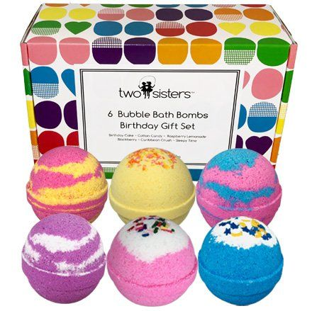6 Bubble Bath Bombs Birthday Gift Set Large Lush Spa Fizzy Kit Best Gift Idea For Women Teens Girl Bath Bomb Gift Sets Bubble Bath Bomb Tween Girl Gifts