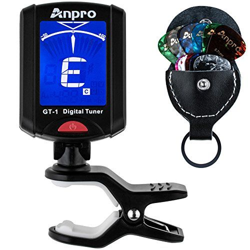 Anpro GT1 Digital Tuner for Guitar Bass Ukulele Chromatic