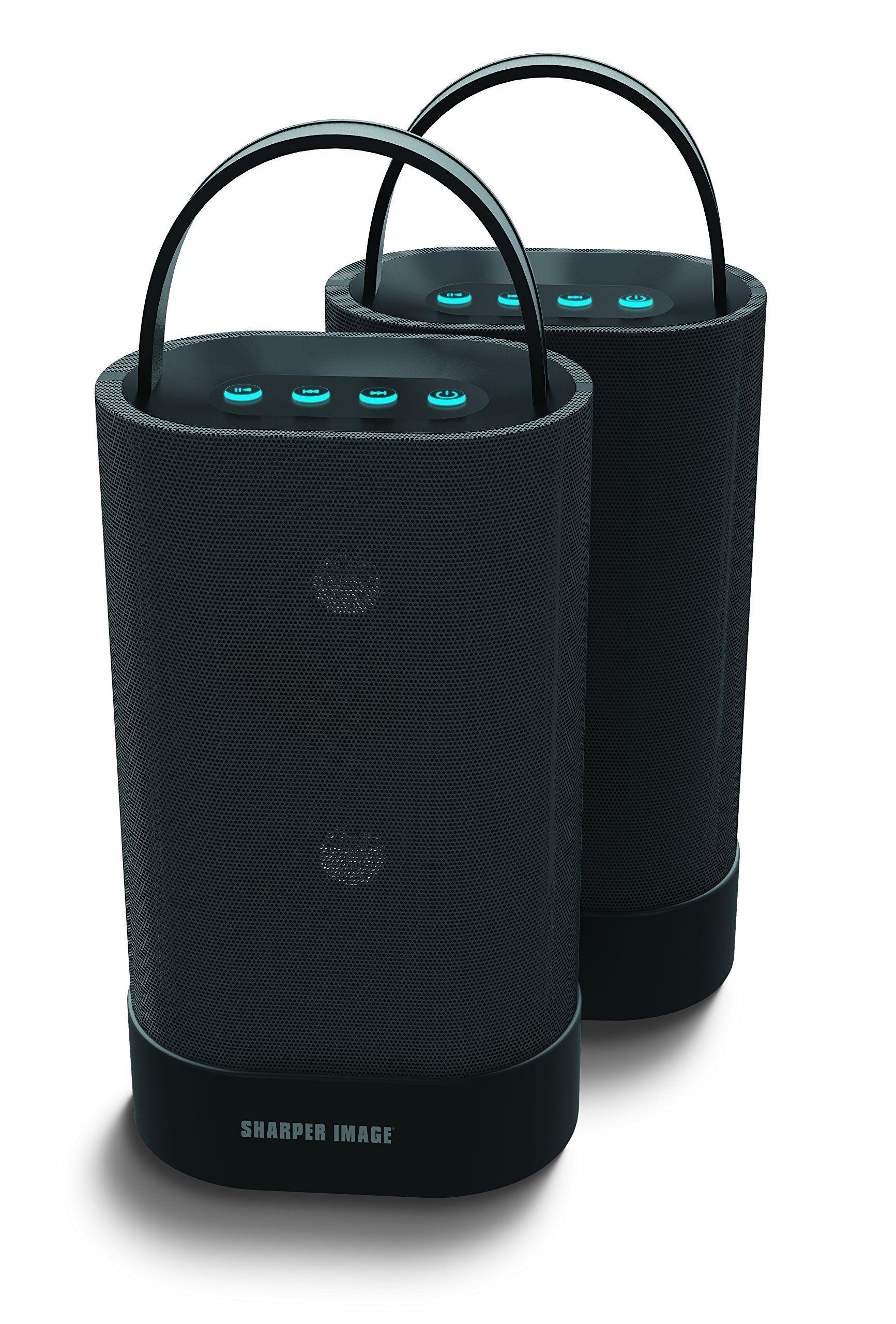 Sharper Image Sbt615 2bk Two Wireless Bluetooth 40 Speakers Works