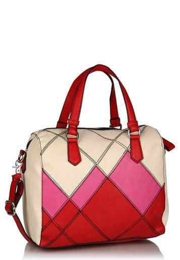 Red Bowling Bag Carteras Pompones