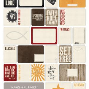 Christian Themed Cards - Project Life www.BeckyHiggins.com/shop
