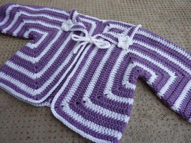 My Rose Valley: Hexagon baby cardigan pattern | Hekl | Pinterest ...