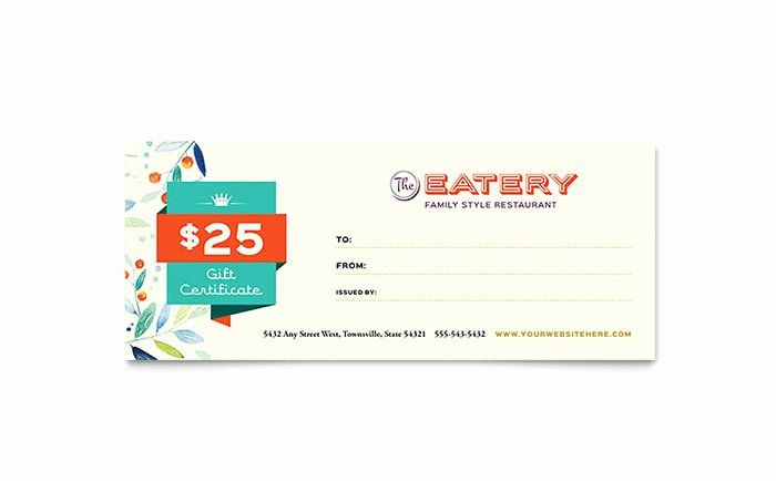 Gift Card Template Word Beautiful Family Restaurant Gift With Regard To Publisher Gift Certi In 2020 Gift Certificate Template Gift Card Template Certificate Templates